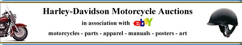 Harley-Davidson motorcycle auctions. Find deals on motorcycles, parts, apparel, accessories, manuals, posters and art.